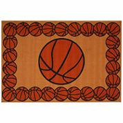 Basketball Time Rectangle Rugs