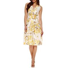 Jessica Howard Sleeveless Fit & Flare Dress