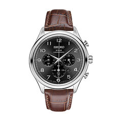 seiko men s watches for jewelry watches jcpenney seiko mens brown strap watch ssc565