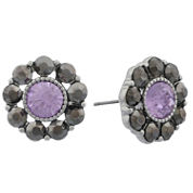 Monet Jewelry Purple Stud Earrings