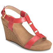 A2 by Aerosoles Plush Nite Womens Wedge Sandals