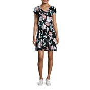 Decree Wrap Skater Dress - Juniors