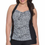 Aqua Couture Tankini Swimsuit Top-Plus