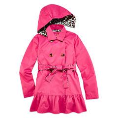 Pink Platinum Classic Trench Raincoat