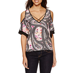 Bisou Bisou Cold Shoulder Cage Top