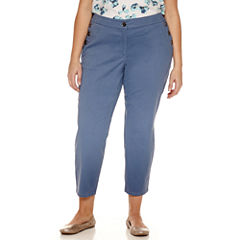 Liz Claiborne Classic Fit Ankle Pants-Plus
