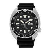 Seiko® Prospex Mens Black Silicone Automatic Diver Bracelet Watch