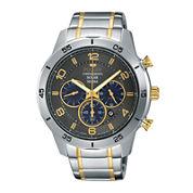 Pulsar® Mens Two-Tone Chronograph Solar Watch