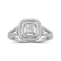 1/2 CT. T.W. Diamond 10K White Gold Bridal Ring