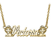 Disney Personalized Kids Jasmine Name Necklace