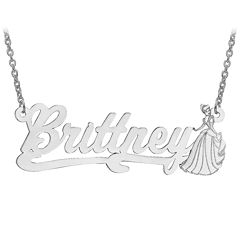 Disney Personalized Cinderella 17x45mm Name Necklace