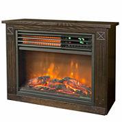 Lifesmart Compact Infraread Heater Fireplace - Dark Oak