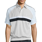 Palmland® Chest-Striped Banded-Hem Polo