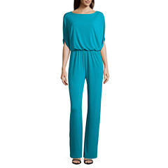 nicole by Nicole Miller Boat Neck Jumpsuit