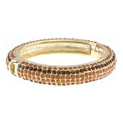 Jardin Brown Crystal Gold-Tone Bangle Bracelet