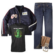 Graphic Tee, Levi's® Jeans, Arizona Moto Jacket or Belt – Boys