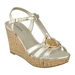 Liz Claiborne® Kattie Logo Wedge Sandals