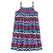 Okie Dokie® Sleeveless Smocked Dress - Preschool Girls 4-6x