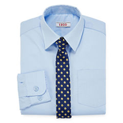 IZOD® Dress Shirt and Clip-On Tie Set - Preschool Boys 4-7