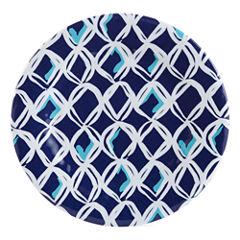 Outdoor Oasis™ Blue Net Set of 4 Melamine Salad Plates