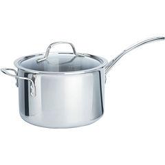 Calphalon® 4.5-qt. Tri-Ply Stainless Steel Saucepan