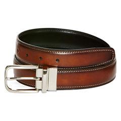 Stafford® Reversible Double-Stitch Dress Belt