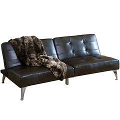 Click Clack Cade Bonded Leather Convertible Sofa Bed