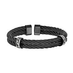 Edward Mirell Black Ti™ Mens Cuff Bracelet