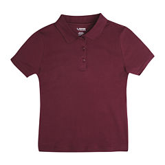 French Toast Short Sleeve Solid Knit Polo Shirt - Toddler Girls