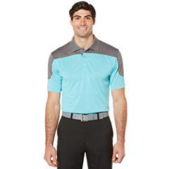 PGA TOUR Short Sleeve Pro Series Heather Block Polo- Big & Tall