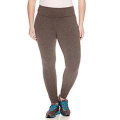 Xersion Solid Jersey Leggings-Plus