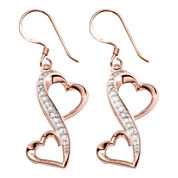 Love Grows™ 1/10 CT. T.W. Love Grows Double-Heart Earrings