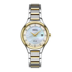 Seiko Womens Two Tone Bracelet Watch-Sut318