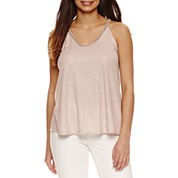 Bold Elements Beaded V-Neck Top