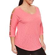Xersion 3/4 Sleeve T-Shirt-Plus