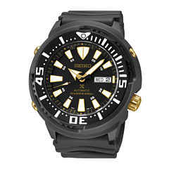 Seiko Mens Black Strap Watch-Srp641