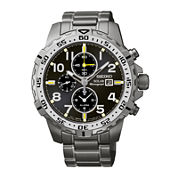 Seiko® Mens Stainless Steel Chronograph Solar Watch SSC307
