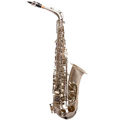 Ravel Key of Eb Sand-Blasted Nickel-Plated Alto Saxophone