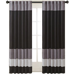 Infinity Polyoni Pintuck-Striped Rod-Pocket Curtain Panel