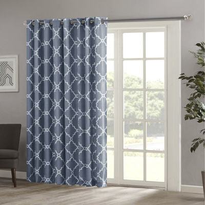 Madison Park Westmont Fretwork Print Grommet Top Patio Panel