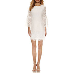 Worthington Lace Bell Sleeve Shift Dress
