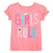 Okie Dokie Girls Graphic T-Shirt-Toddler