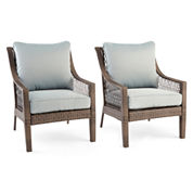 Outdoor Oasis™ Latigo Wicker Sofa Chair set of 2