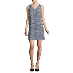 Worthington Sleeveless V Neck Shift Dress