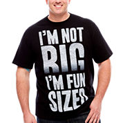 Short Sleeve Big And Tall Humor Tee  Fun Size