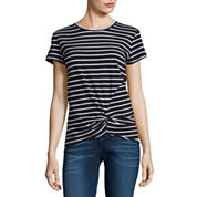 i jeans by Buffalo Short Sleeve Scoop Neck T-Shirt