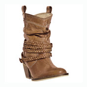 Dingo® Twisted Sister Womens Braided Strap Western Boots