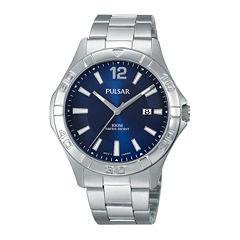Pulsar® Mens Stainless Steel Watch PH9077X