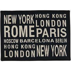 Cities Rectangular Rug