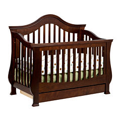 Million Dollar Baby Ashbury 4-in-1 Convertible Crib - Espresso